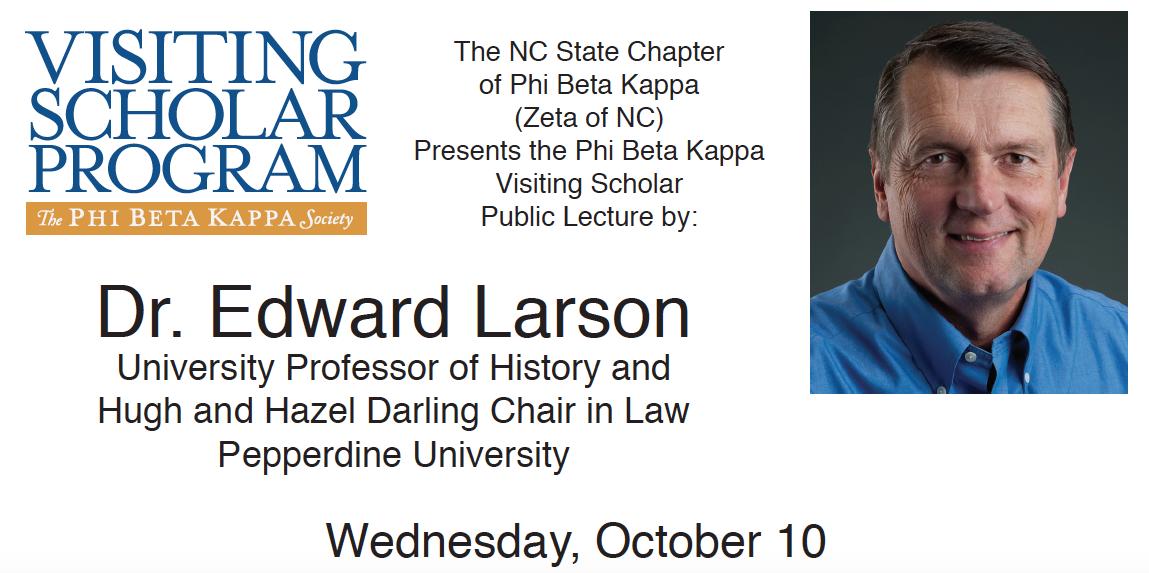 Photo of Edward Larson Phi Beta Kappa Visiting Scholar